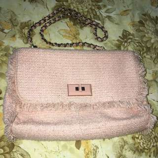 Tas warna pink charles & keith asli