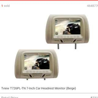 """7"""" TFT Monitors With Built in Car Headrest"""