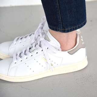 Adidas Stan Smith 淺灰 灰色 奶油底