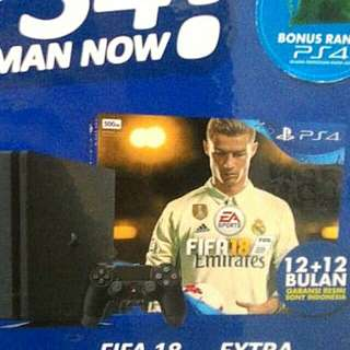 Kredit PS4 Pro 1Tb+ Game Fifa+ 1DS4 Tanpa Kartu Kredit