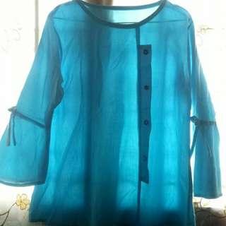 Baby blue shirt size L