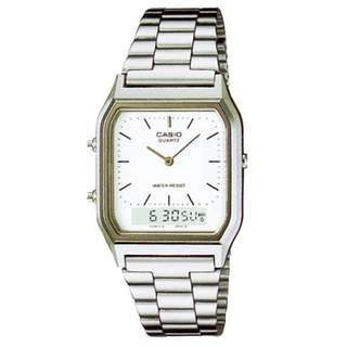 Casio Vintage AQ-230A-7D Silver Stainless Watch for MenWomen  COD FREE SHIPPING