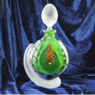 『法國藝術品』水晶玻璃-Michele  Luzoro大型香水瓶(價格私議)