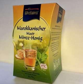 🚚 Mebmer德國🇩🇪摩洛哥薄荷蜂蜜茶.可疏緩鎮定.幫助消化.改善口氣.全新包裝.不含麩質.不含乳糖.20包
