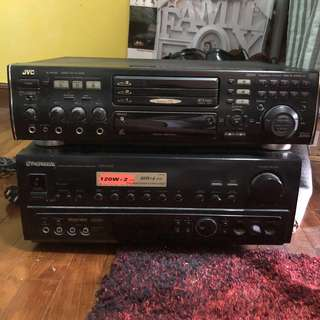 JVC and PIONEER DVD VCD player
