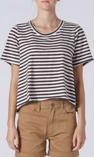 COMMONERS crop stripe tshirt