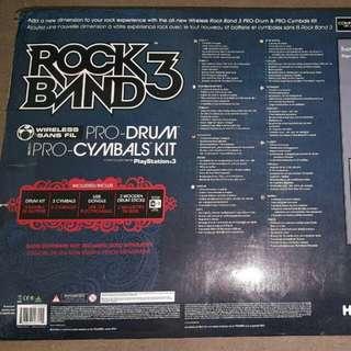 PS3 Rock Band  wireless drum set