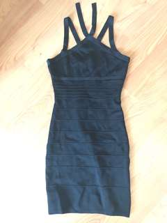 GUESS by Marciano Black Halter Bodycon Dress