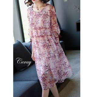 Ceray Floral Dress. S-2XL.