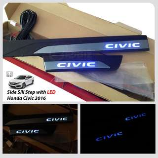 HONDA CIVIC FC 2018 side step LED