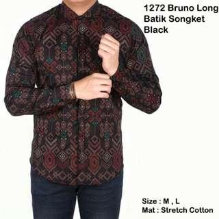 Kemeja pria lengan panjang batik songket