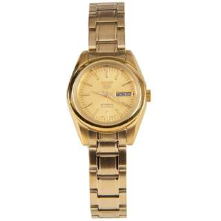 SYMK20K1 SYMK20K SYMK20 Brand New Seiko 5 Automatic Day Date 100% Original Gold Dial Analog Ladies Casual Watch w/ Warranty