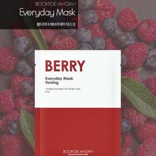 Korean Face Mask Sheets (Berry)