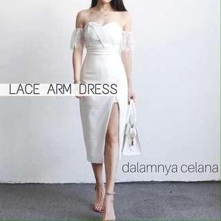 lace arm dress