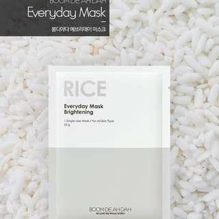Korean Face Mask Sheets (Rice)