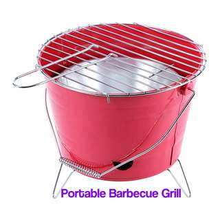 💯 Portable Barbecue Grill with Bucket Shape