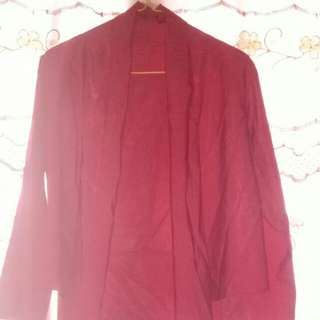 Blouse maroon size M
