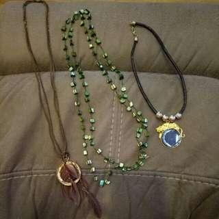 3 Singapore Necklaces