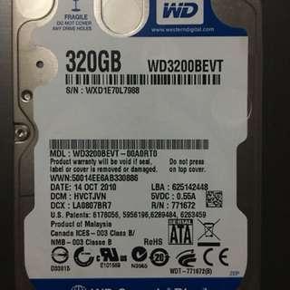 Western Digital (WD) 320GB HDD SATA (hard drive)