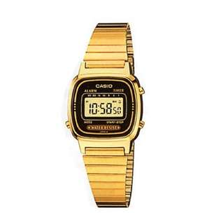 Casio Vintage LA670WGA-1D Gold Plated Watch for Women - COD FREE SHIPPING