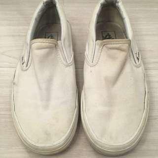Vans Slip Ons (White, Women's)