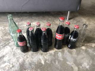Coca Cola Coke Vintage Glass Bottles