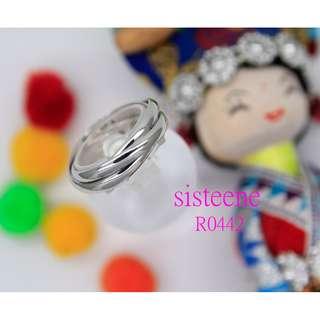 純銀戒指R0442