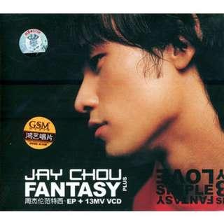 周杰伦《范特西》EP+13首MV(CD+VCD影碟珍藏版)附送超酷明星海报+精美写真歌词本