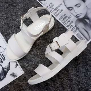 💗MIKA💗(現貨秒出) 夏日款 韓系春夏綁帶羅馬涼鞋 包鞋 尖頭鞋 平底鞋 羅馬鞋02-739
