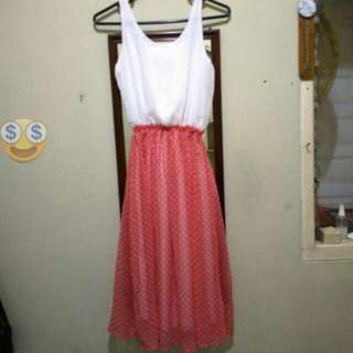 Open Barter / Sale Polkadot Long Dress