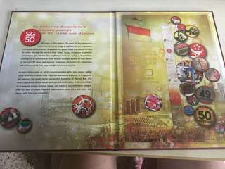 Sg50 stamp booklet with serial no 1795