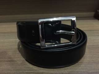 Zara Black Leather Belt