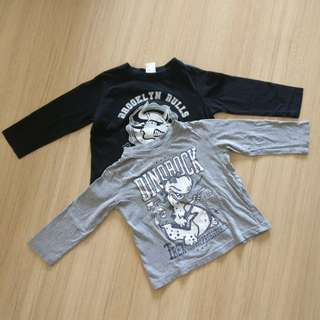 2 pieces of kid long sleeve tops