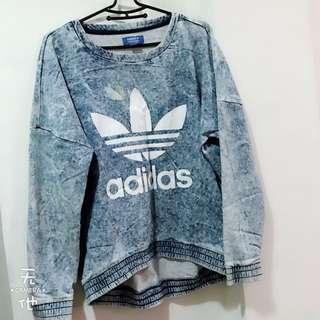 Adidas牛仔長袖上衣