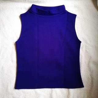 Blue Violet Sleeveless Top