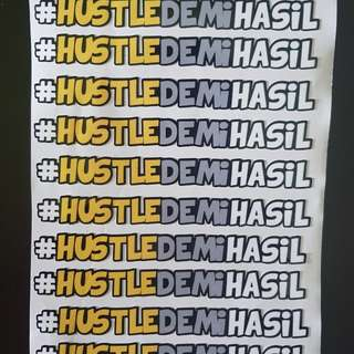 #HUSTLEDEMIHASIL Limited edition