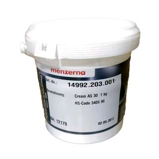 Menzerna Cream AS 30 /AS30 Agresif Compound Paste size 1 kg
