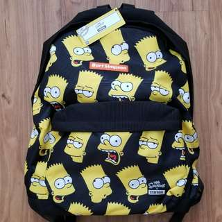 BNWT Stay Real X Bart Simpson backpack bag