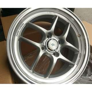 15吋 鋁圈輪胎優惠組合 4/100 ET36 6.5J 搭配倍耐力 歐洲製 CP1 195/50/15 優惠限量
