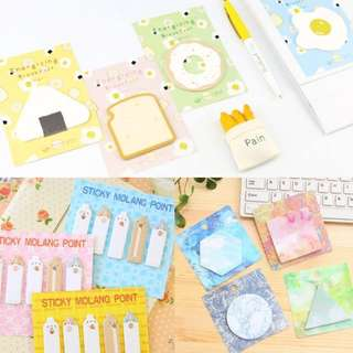 [CHEAPEST] watercolour/food/cute post its