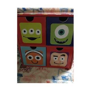 迪士尼 玩具總動員 皮克斯 紙盒 收納盒 盒子 紙箱 抽屜 餅乾盒 空盒 三眼怪 尼莫 大眼怪 怪獸大學 巴斯光年