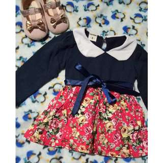 longsleeves dress 9mos-1yr old