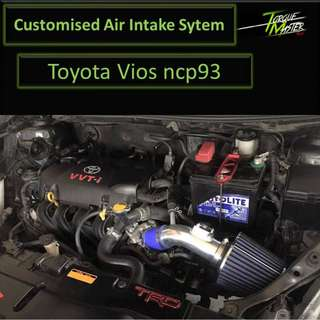 Customize Air Intake For Toyota Vios . Air intake with maf kit . Labour Available.
