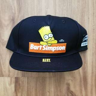 BNWT Stay Real X Bart Simpson Snapback Cap