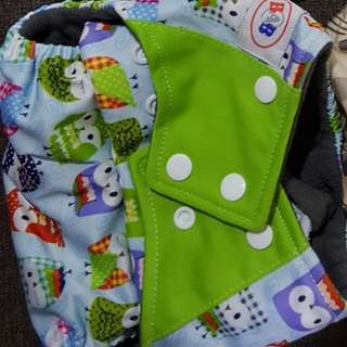 1 unit Cloth Diaper with one 5-layer bamboo insert