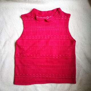 Fuschia Pink Sleeveless Top