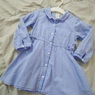 H&M Blue Dress for baby girl #Bajet20