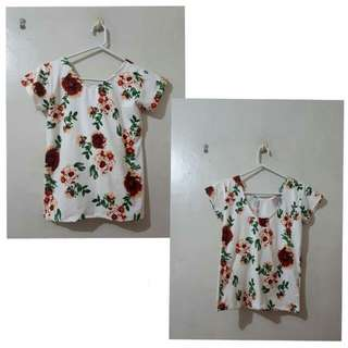 Floral scoop back top