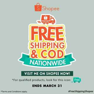 VISIT MY SHOPEE ACCOUNT FOR FREE & DISCOUNTED SHIPPING FEE