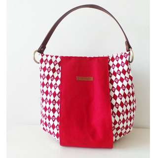 Modern Shoulder Bucket Bag - *Anchor Red*